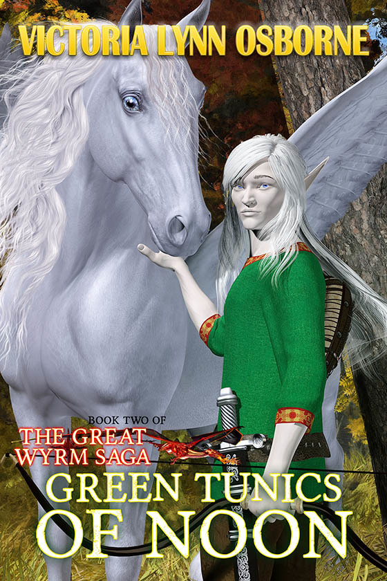 GREEN TUNICS OF NOON ~ Cover art & Design for by AidanaWillowRaven