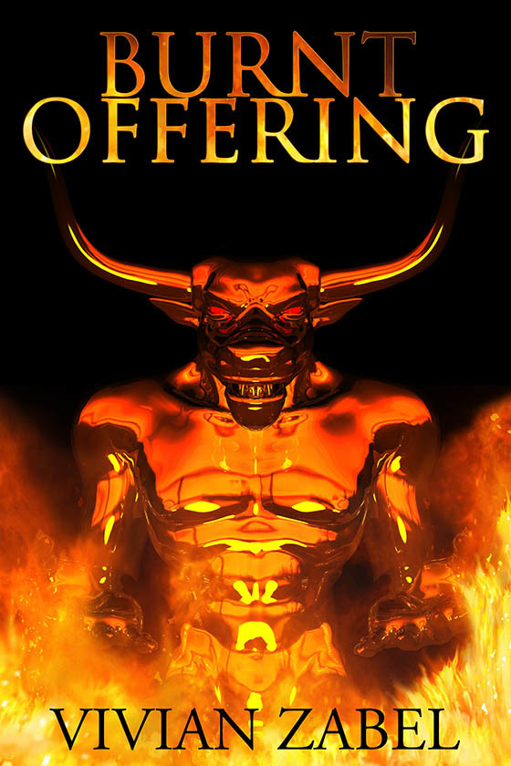 BURNT OFFERING; cover art & design for histori by AidanaWillowRaven