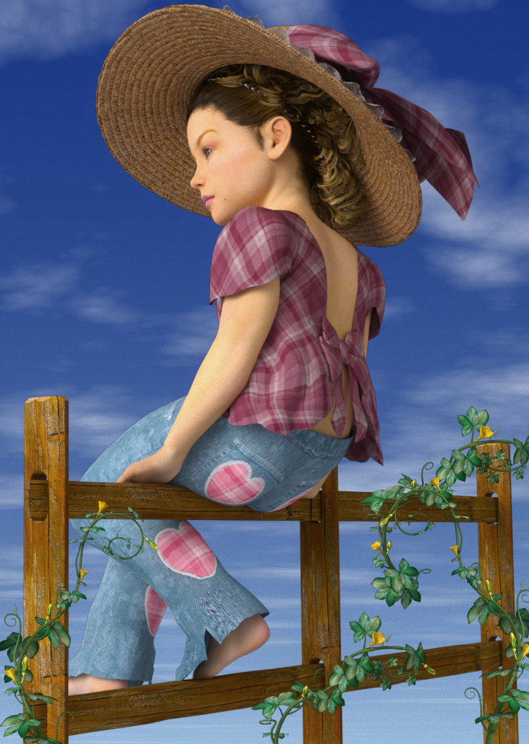 Country Girl on the Fence