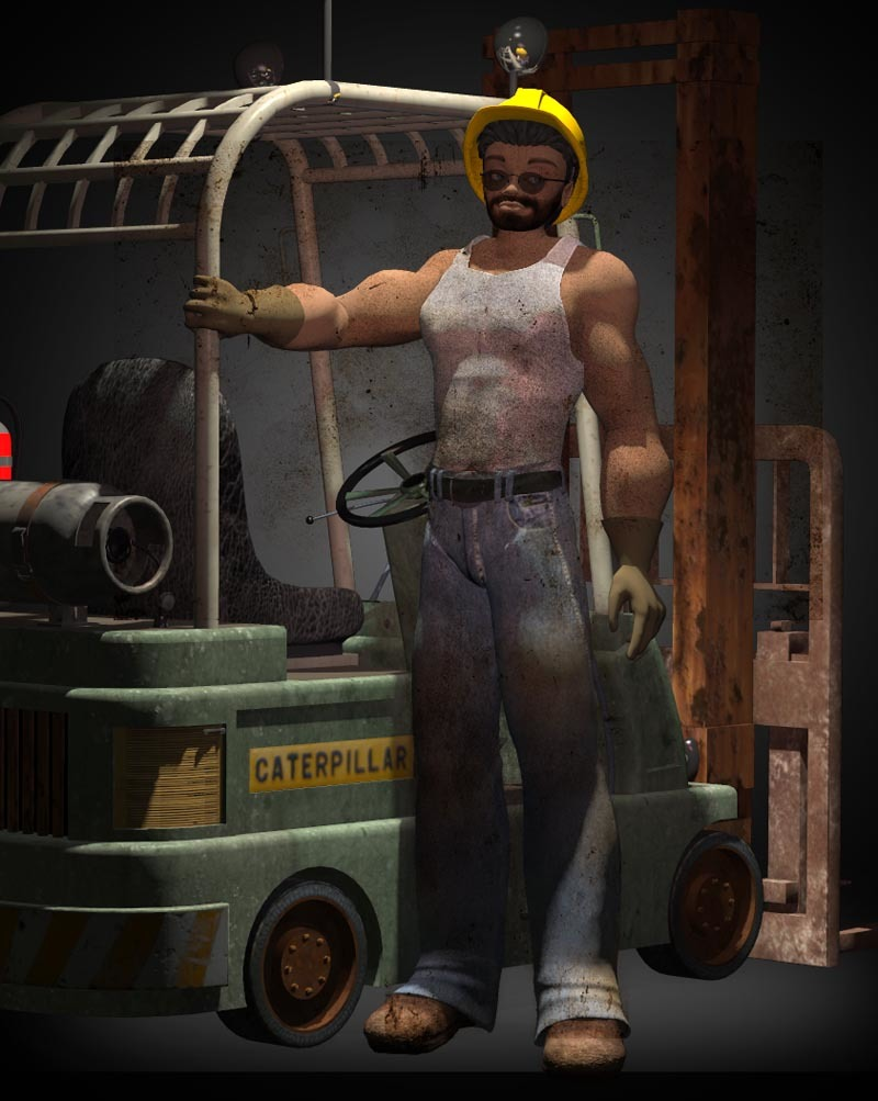 Guy with forklift