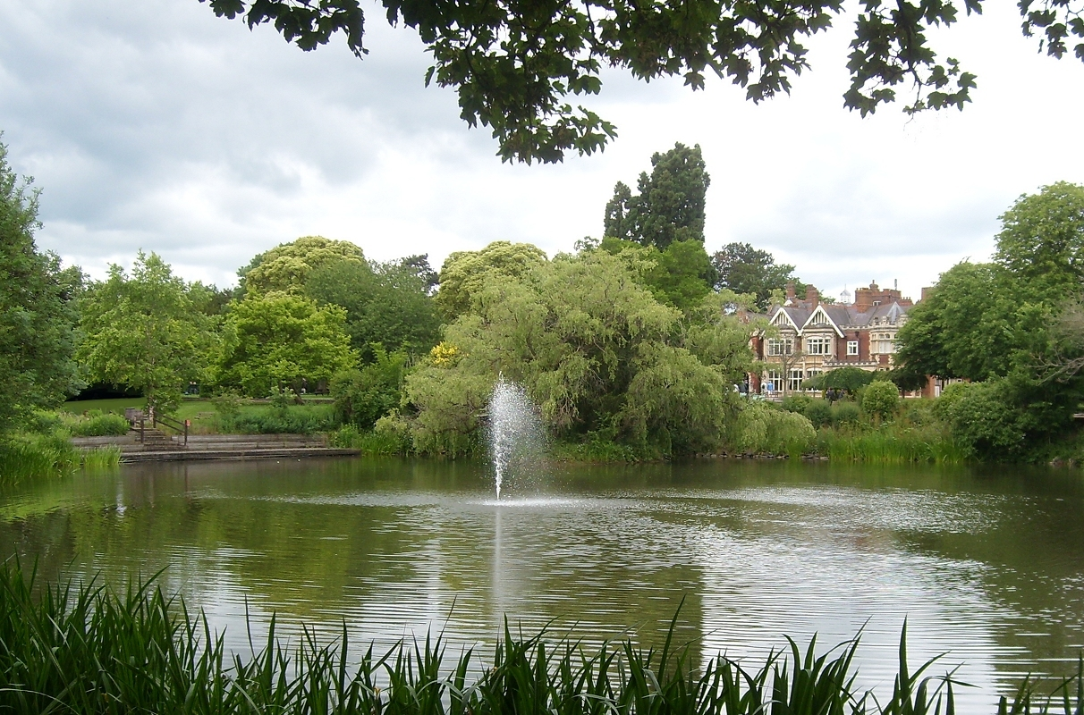 The Mansion and Lake:  Bletchley Park by AGentleMuse