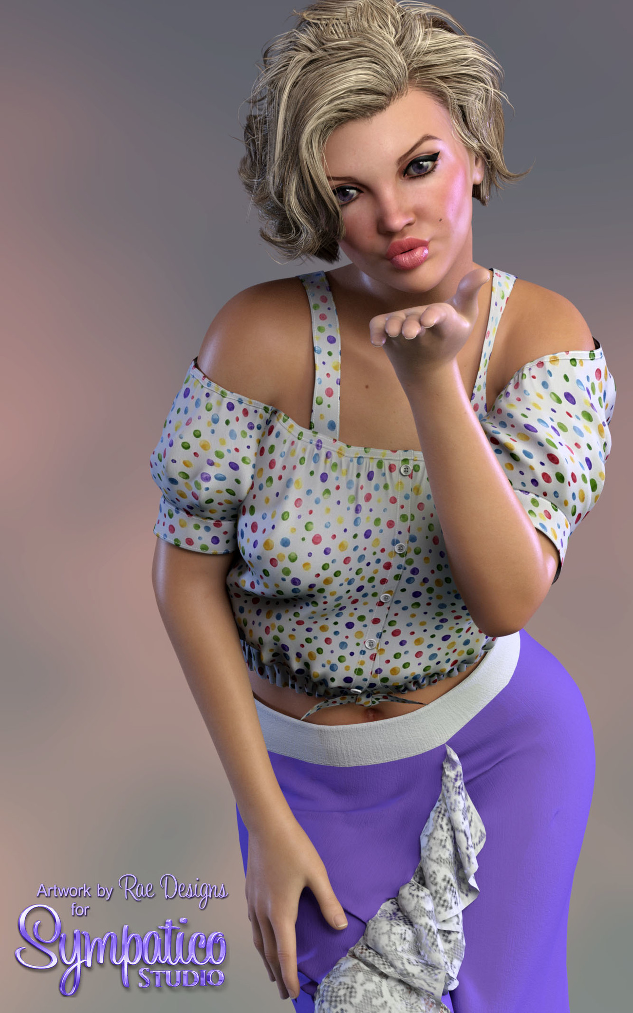 Strap Puff Sleeve Top by Rae_Designs