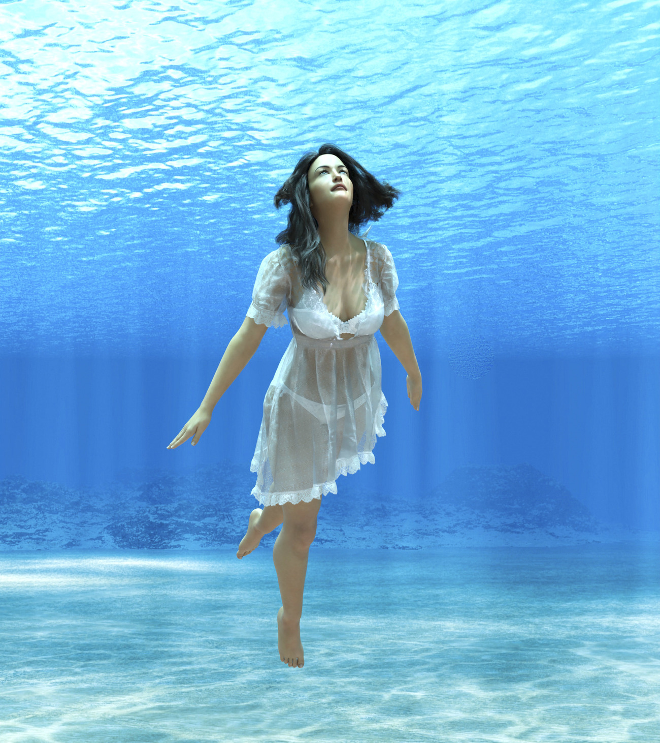 Liv underwater by Namtar3D