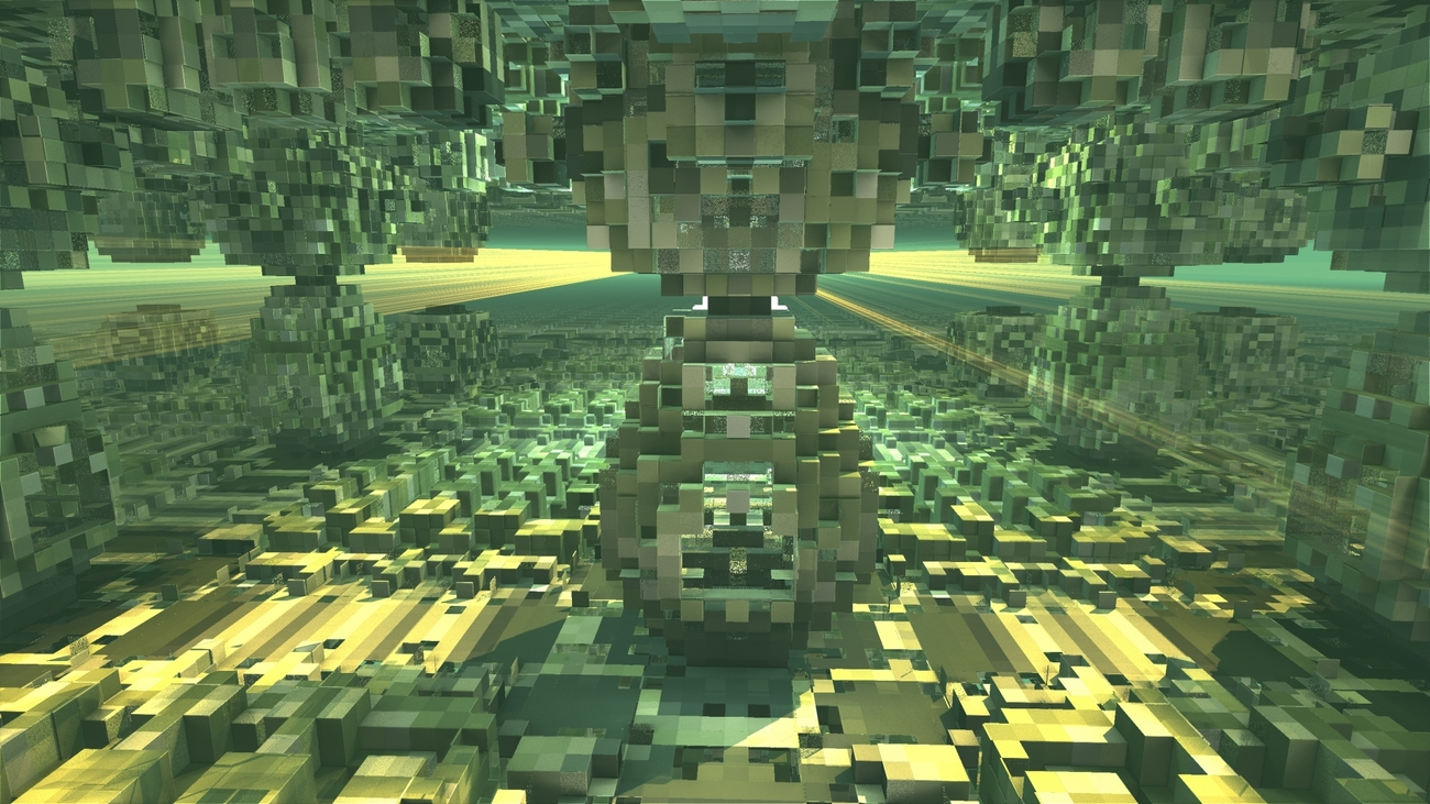 Sunbeams in the Cube World