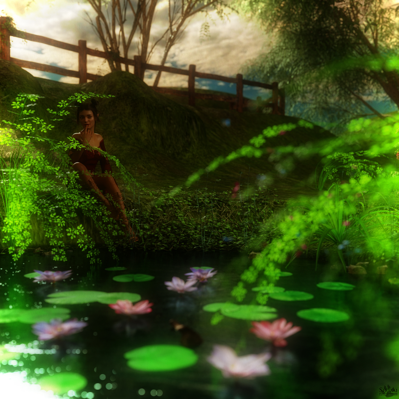 Wishing Pond by Shozai