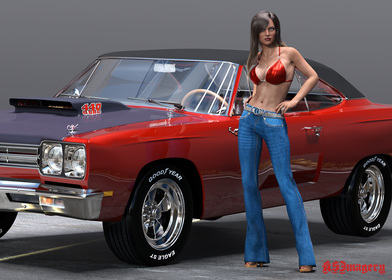 Alex and her '69 Plymouth. by ksmith3620