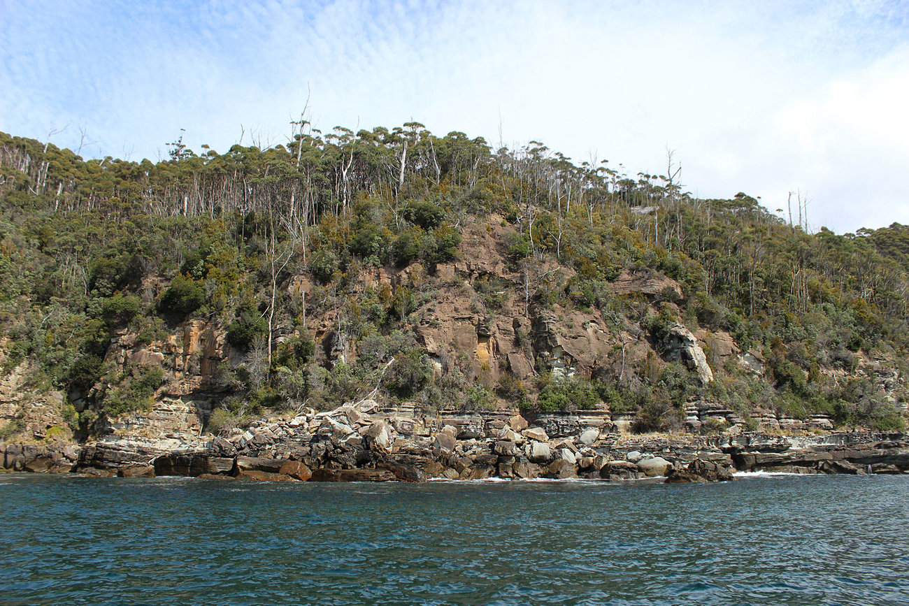 Tasmania from our boat.