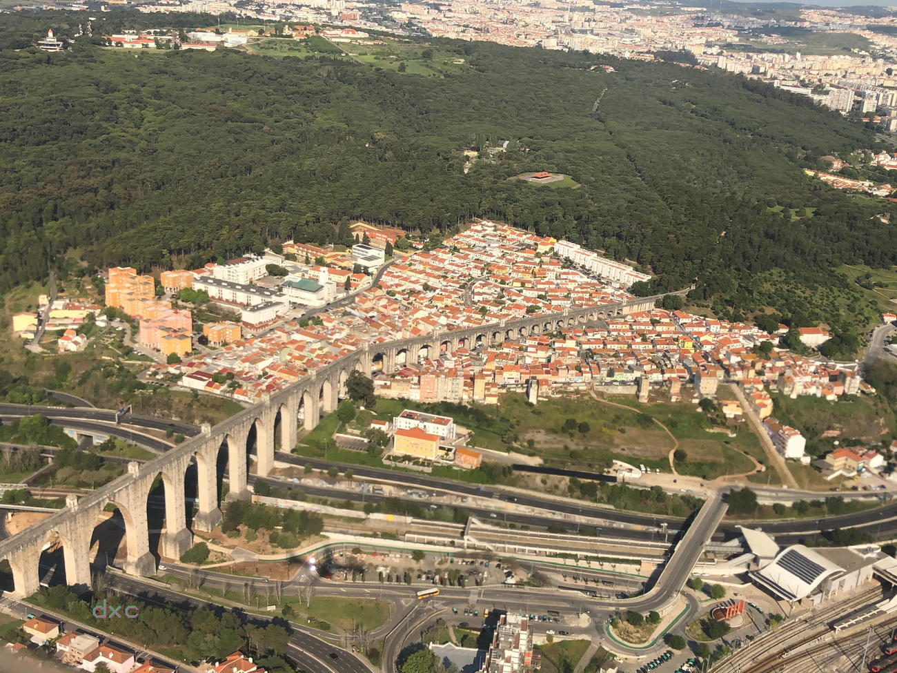 Lisbon From Sky by DianeD