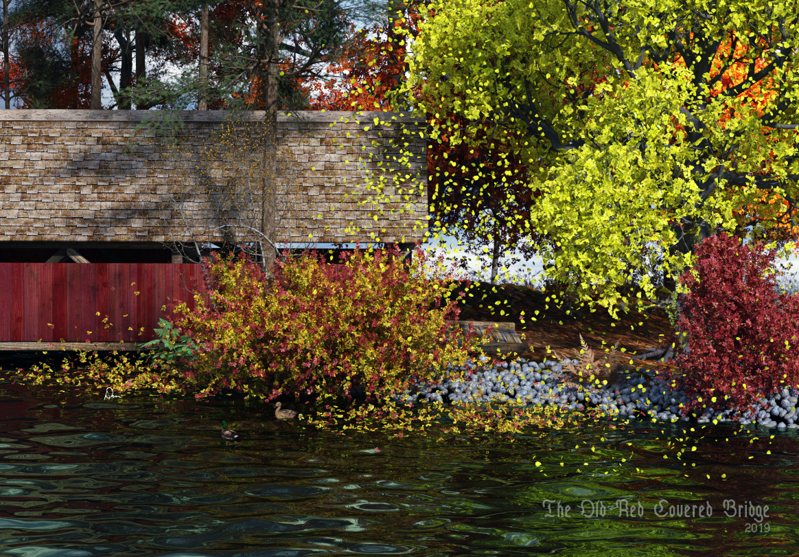 The Old Red Covered Bridge by danidh