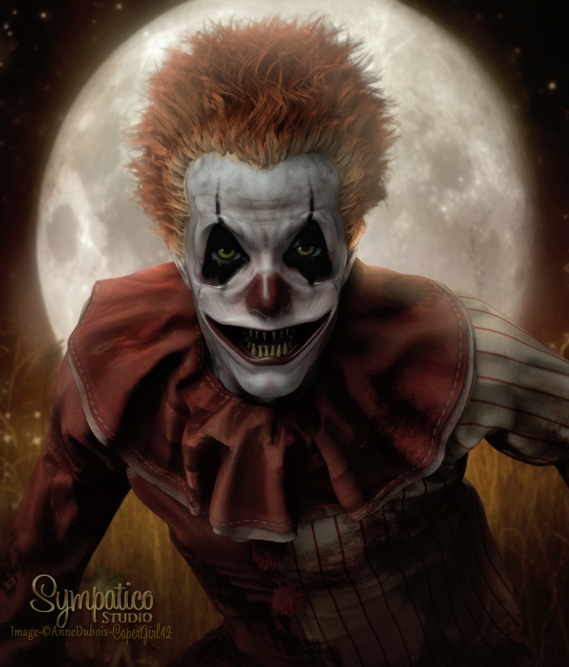Evil Clown wants a Kiss by CaperGirl42