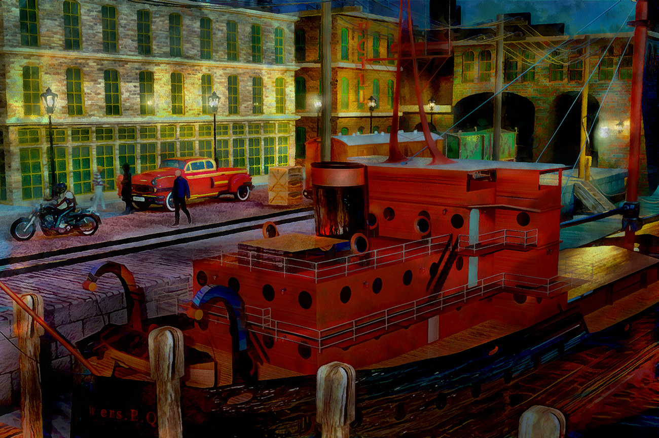 On the docks by martial