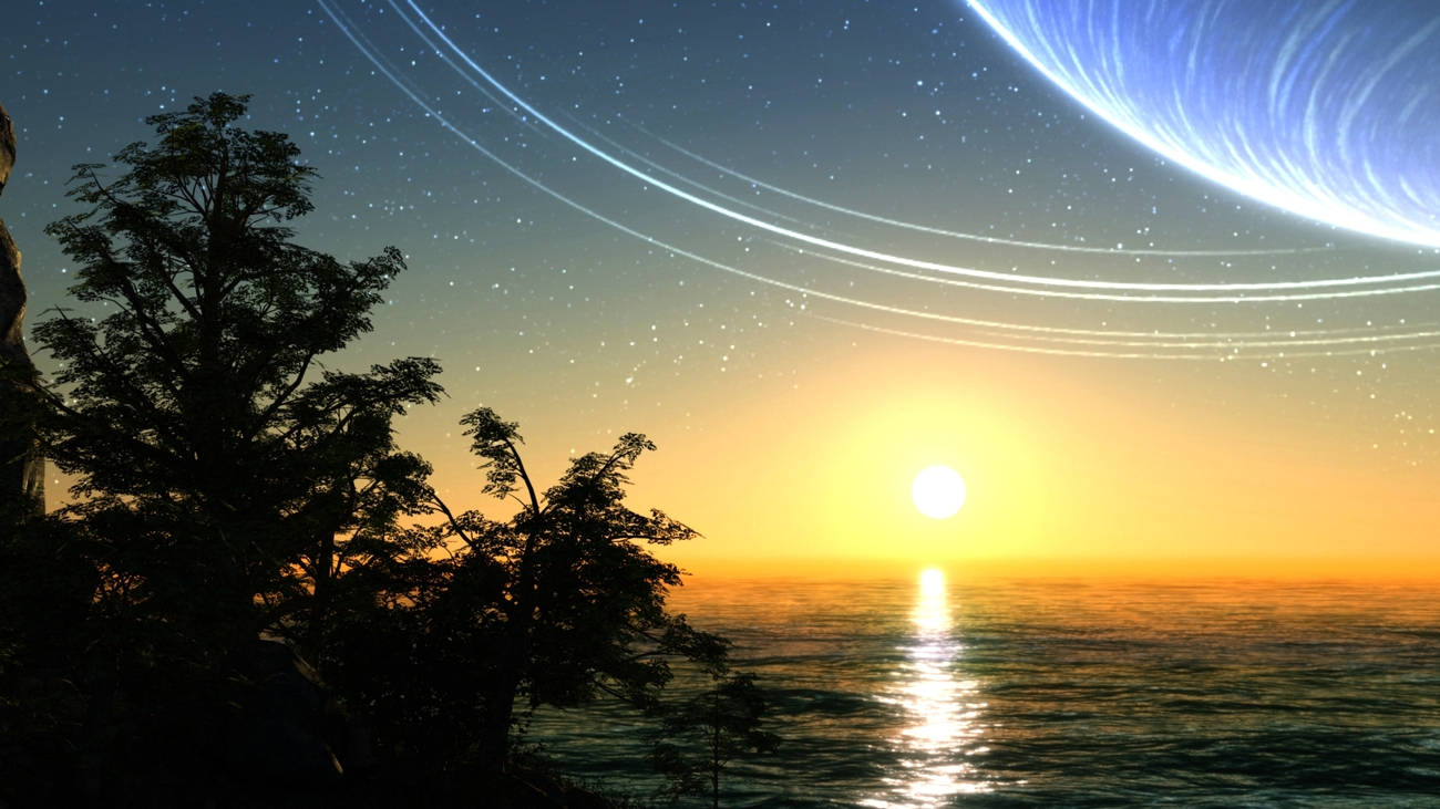 Sunset in Another World by Namtar3D