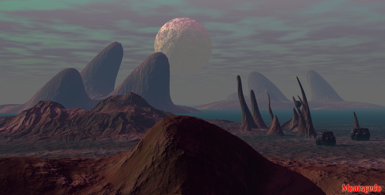 Wacky geology in this planet! by kanaa