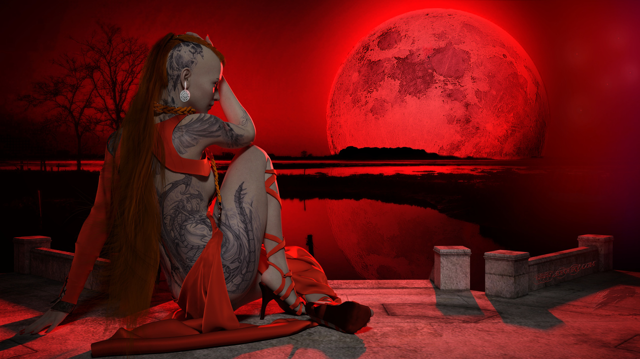 Blood Moon 2019 by 3dpoetry
