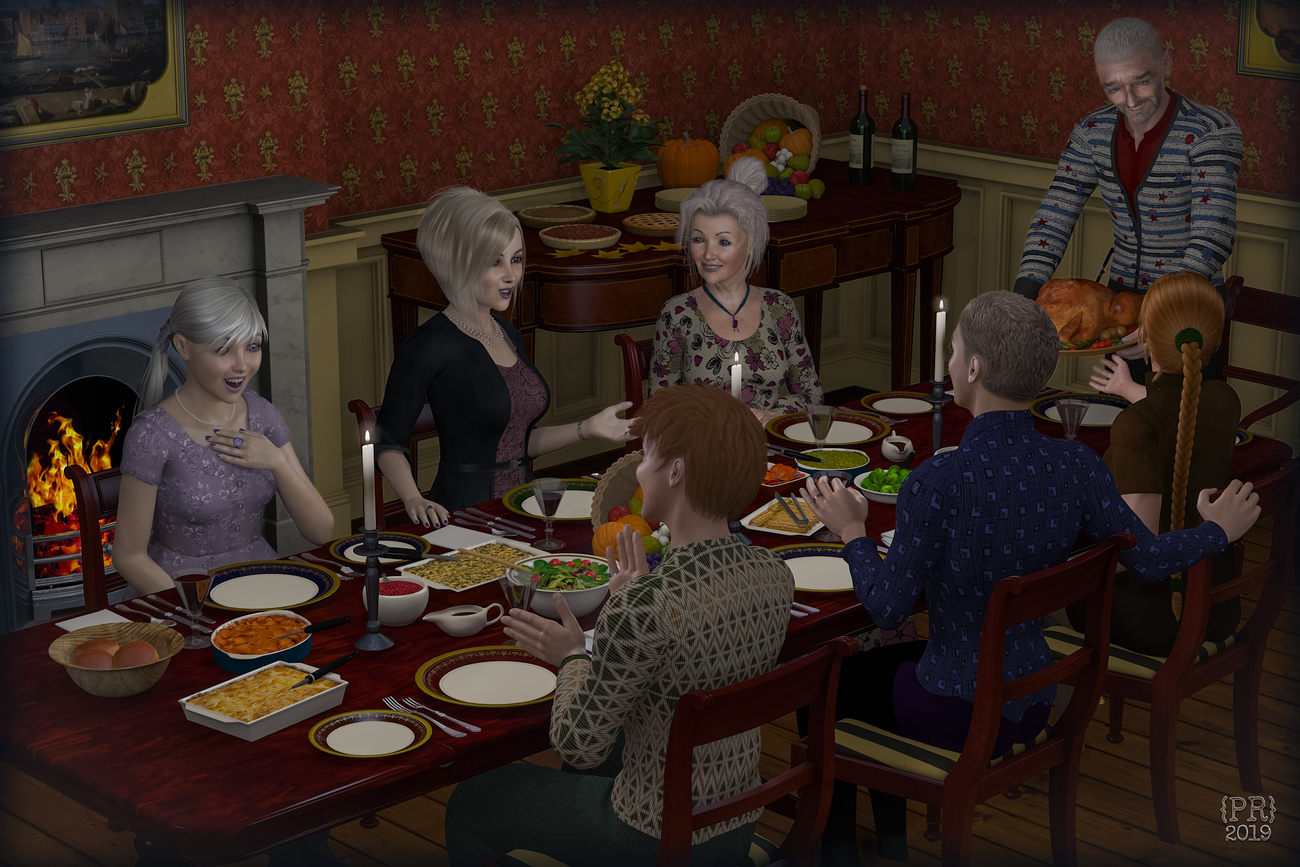 Thanksgiving at the MacKinnons 2019 by perpetualrevision