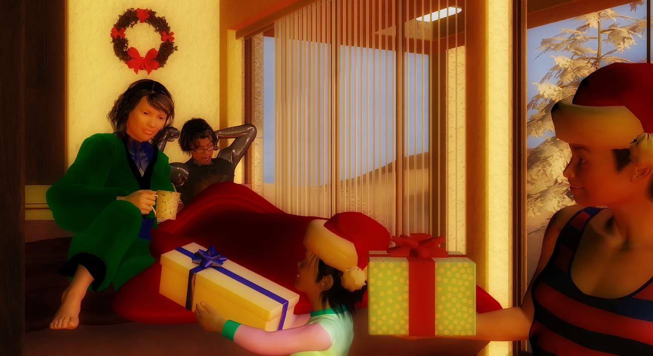 Chirstmas Morning With Shu Family by MajinBoo
