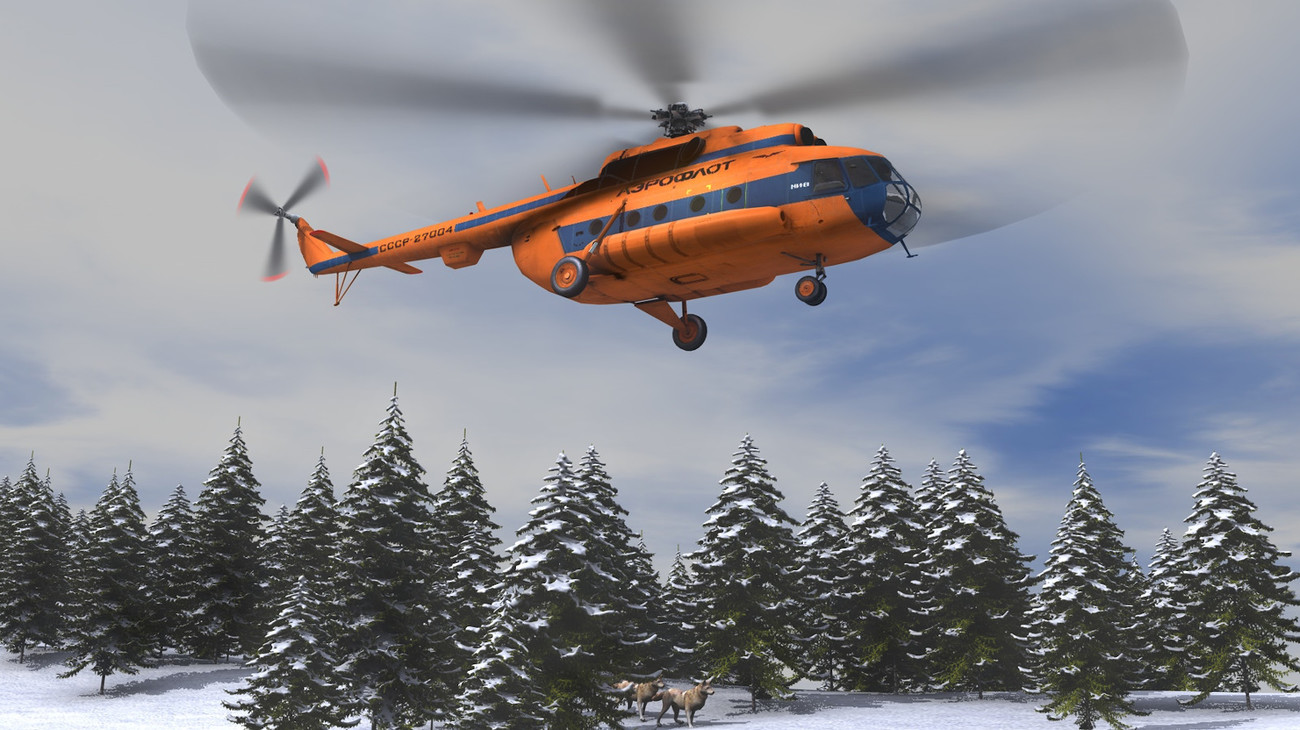 Helicopter Over Snow by AliceFromLake