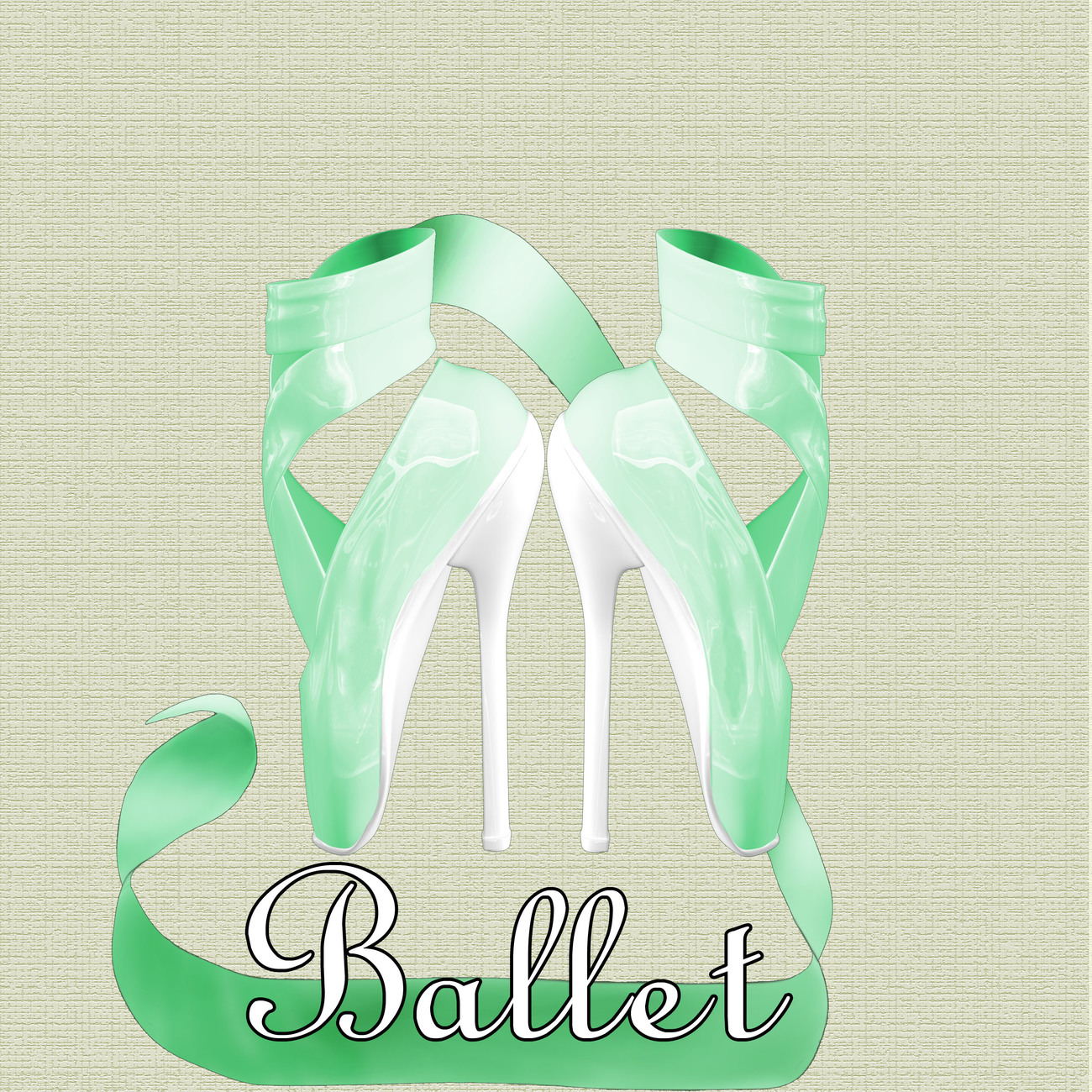 Green Ballet Shoes by Digitell