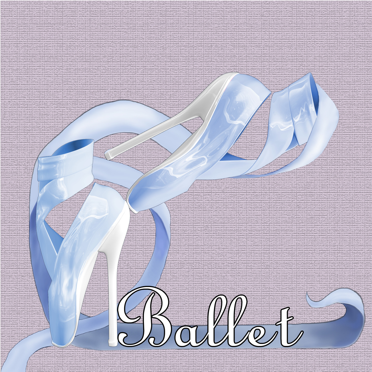 Blue Ballet Shoes by Digitell