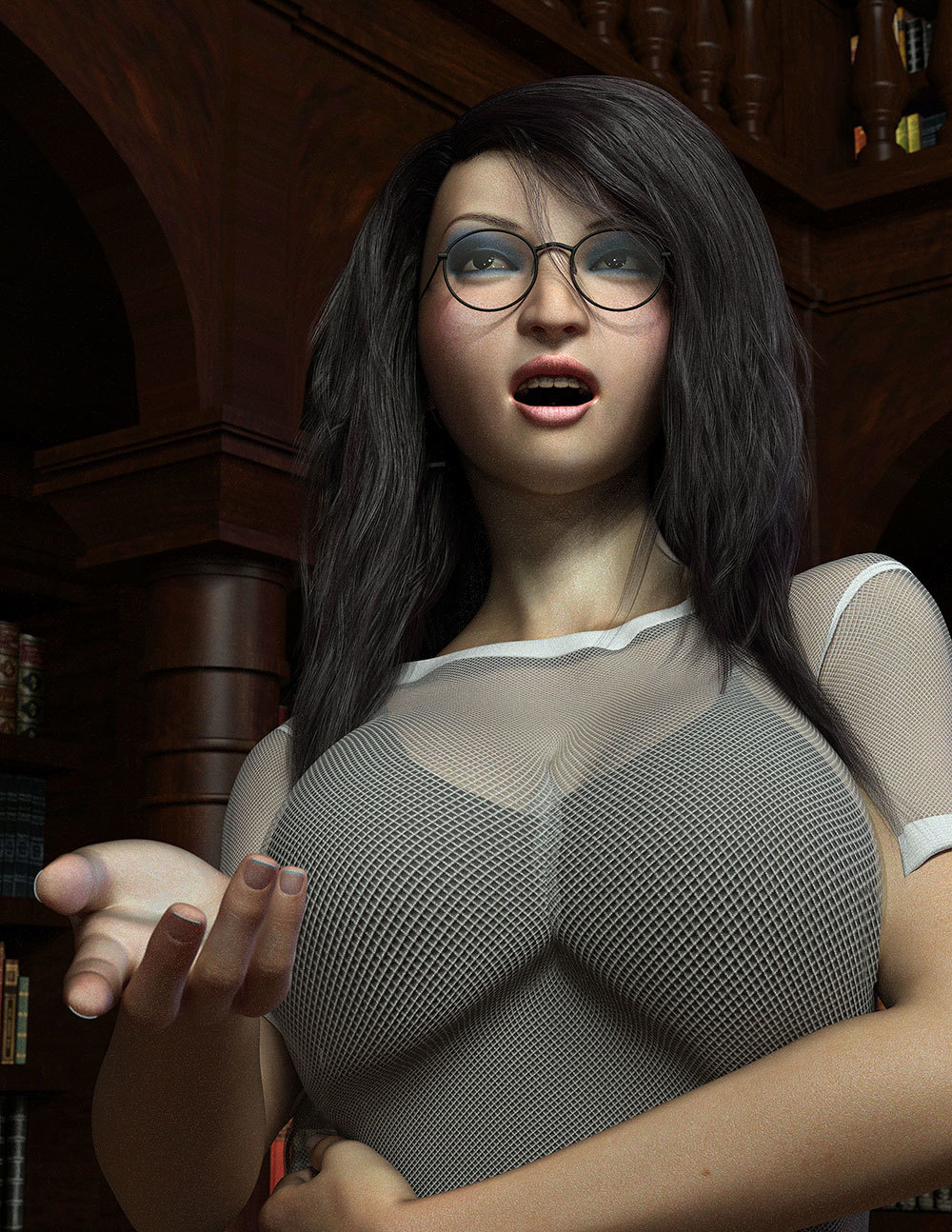Miho Librarian by Disciple3d