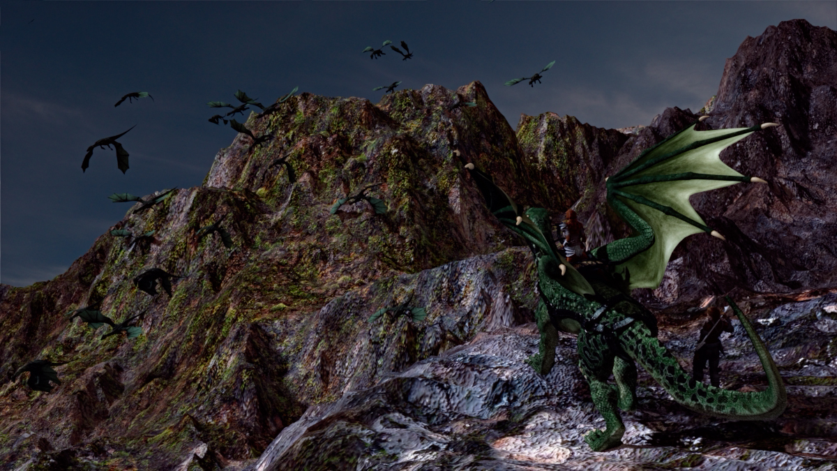 Dragons in the mountains