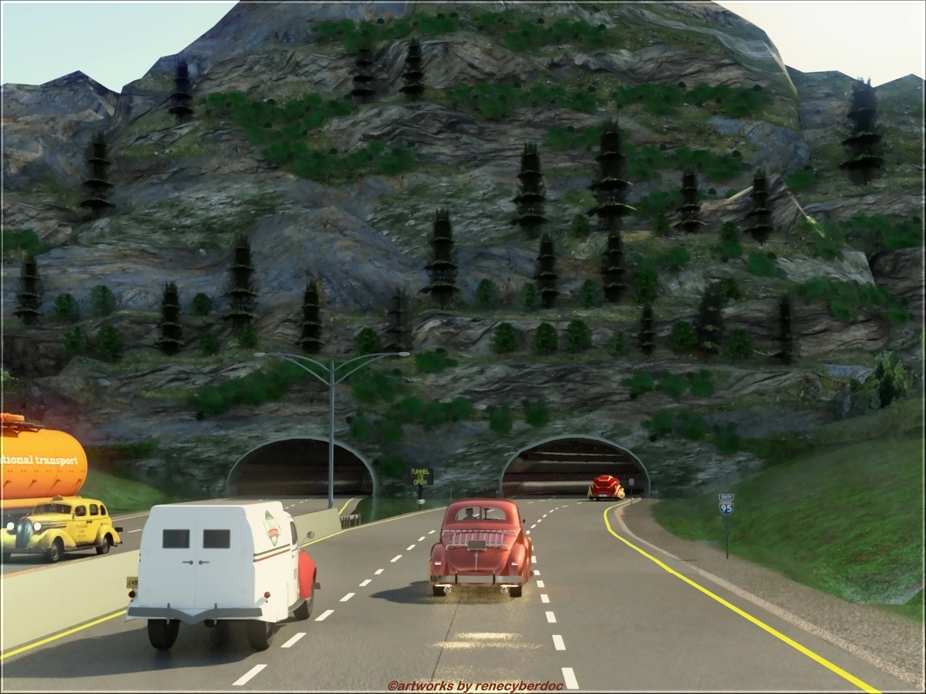 Tunnel Traffic by renecyberdoc