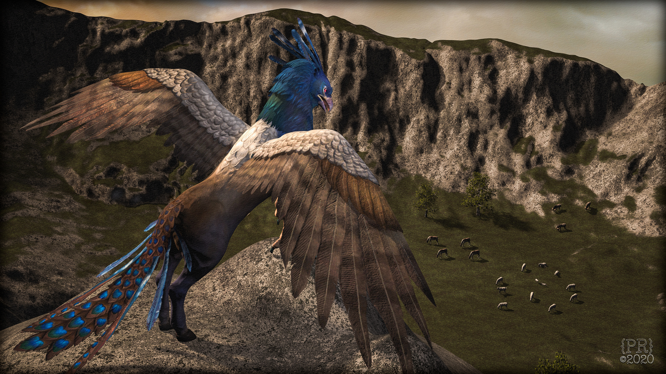 Blue Hippogryph Protector by perpetualrevision