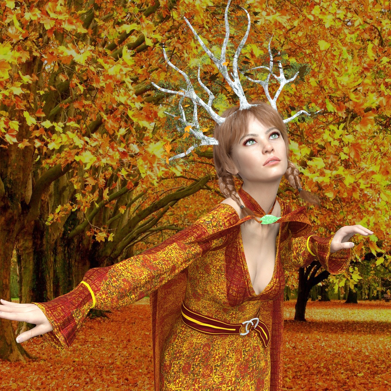 Romina The autumn Goddess by reizibarrientos