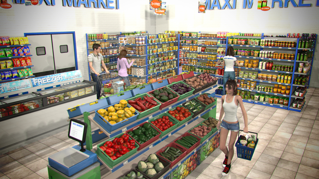 Mini market for Poser by 2nd_World