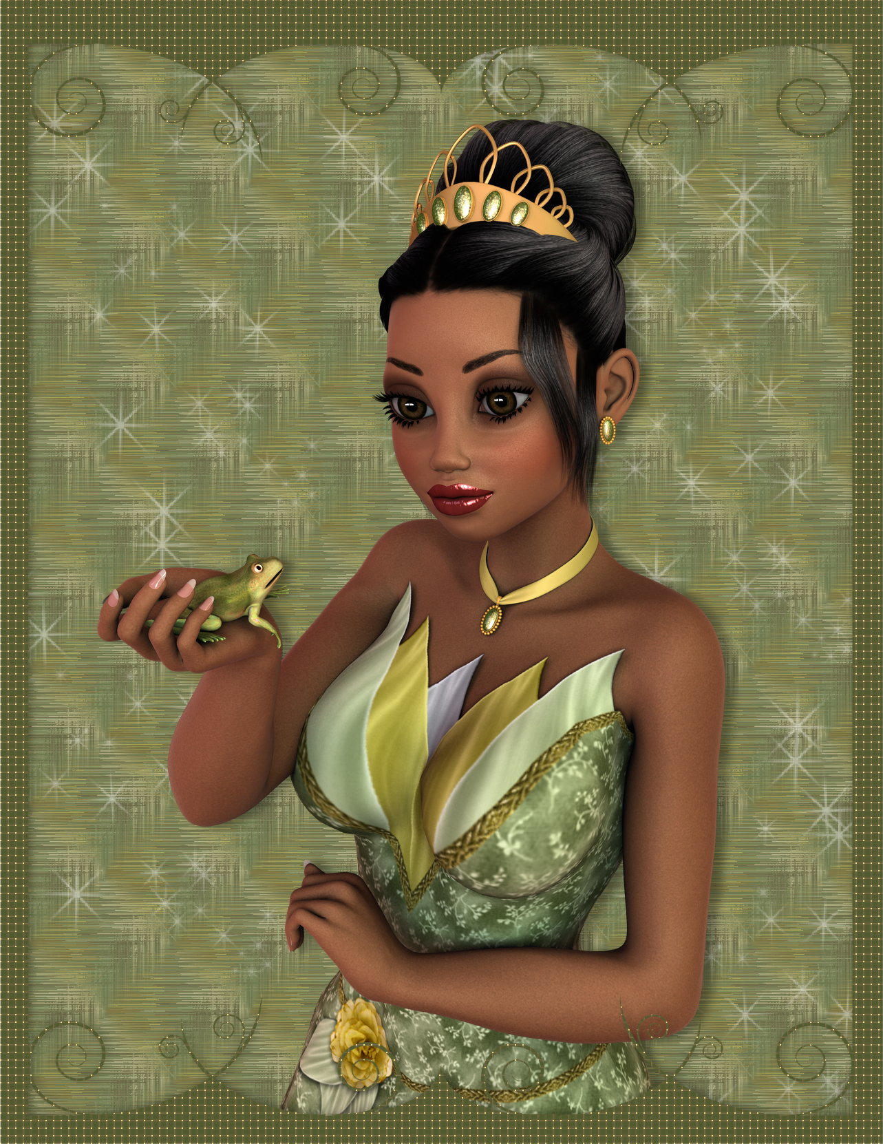 Princess and Frog by kelchris3