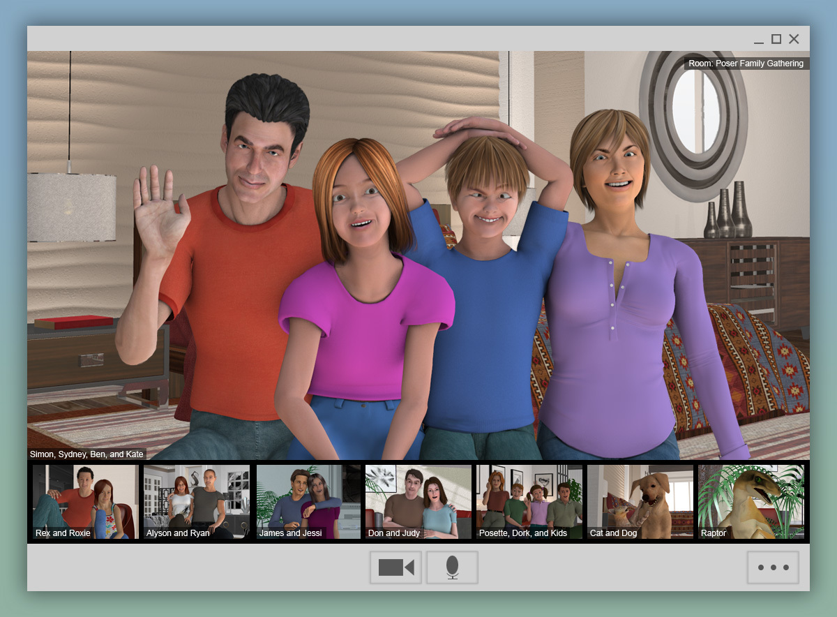 Video Conferencing with the Extended Family by thellamamaster