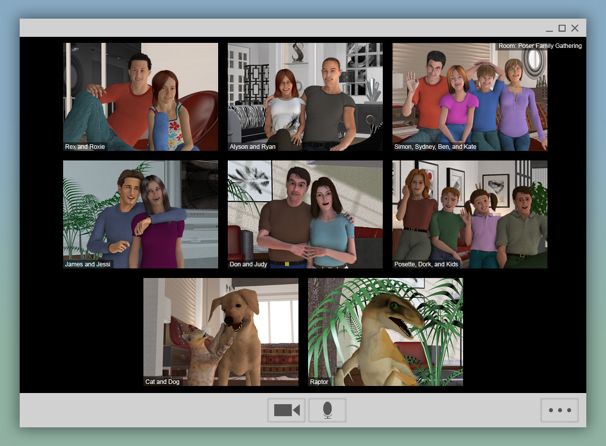Video Conferencing with the Extended Family (Alt) by thellamamaster