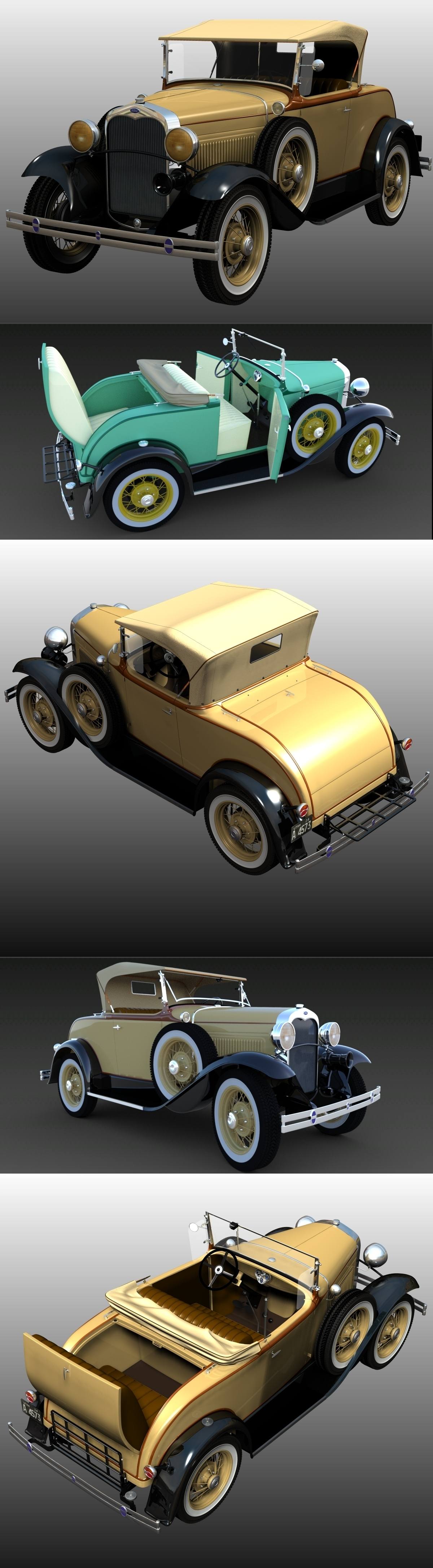 FORD A 1930 by 3DClassics123456