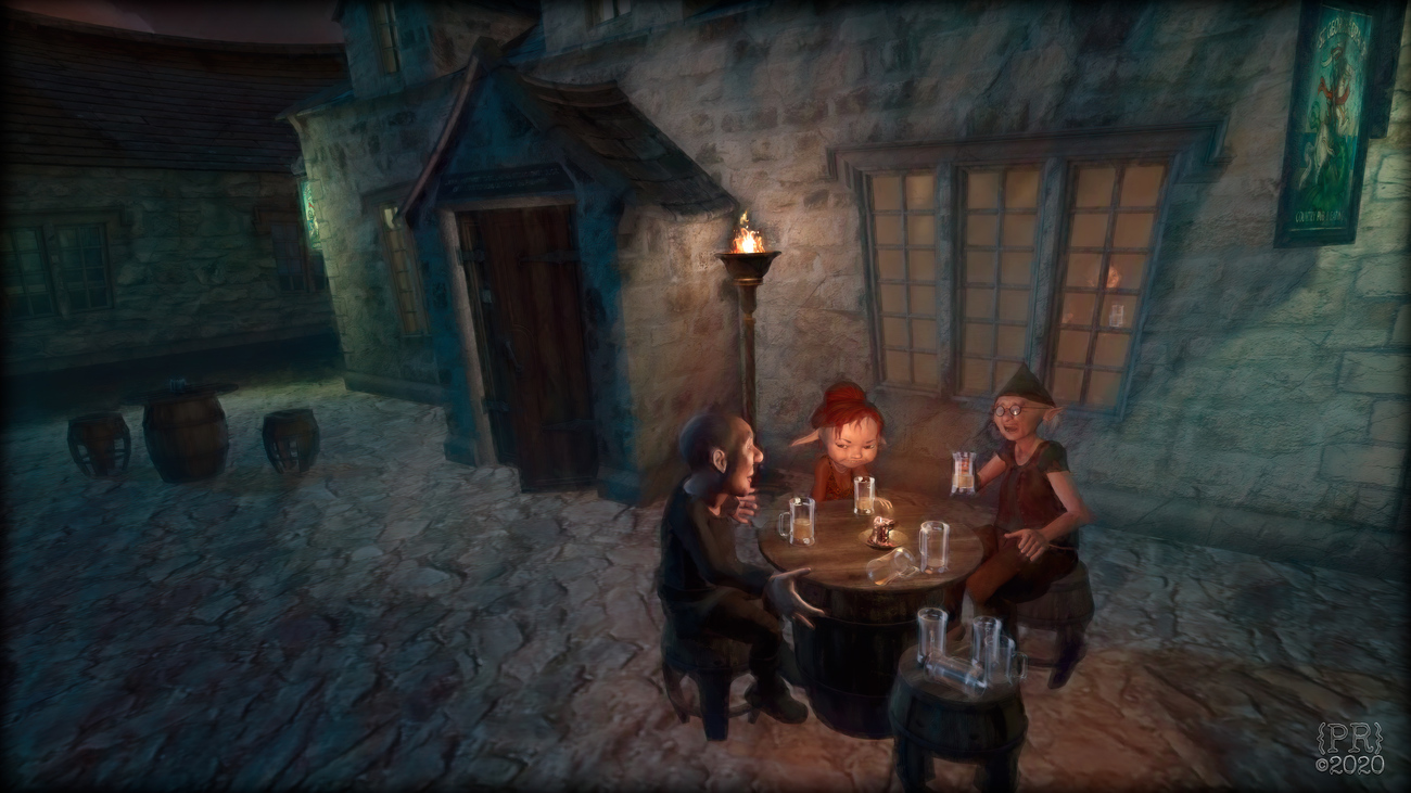 Drinks at the Curious Pub (version 2)