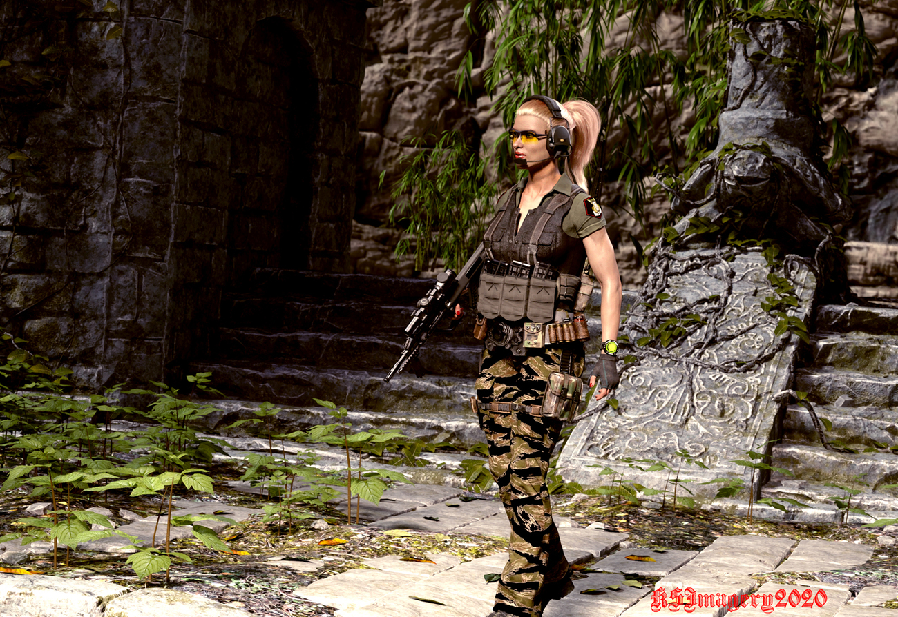 Valkyrie 1 exploring some ruins in the target area by ksmith3620