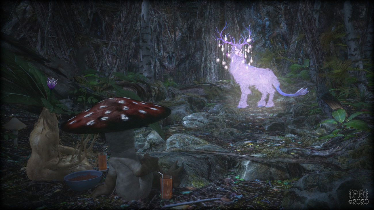 Kirin Spotting in the Enchanted Forest by perpetualrevision