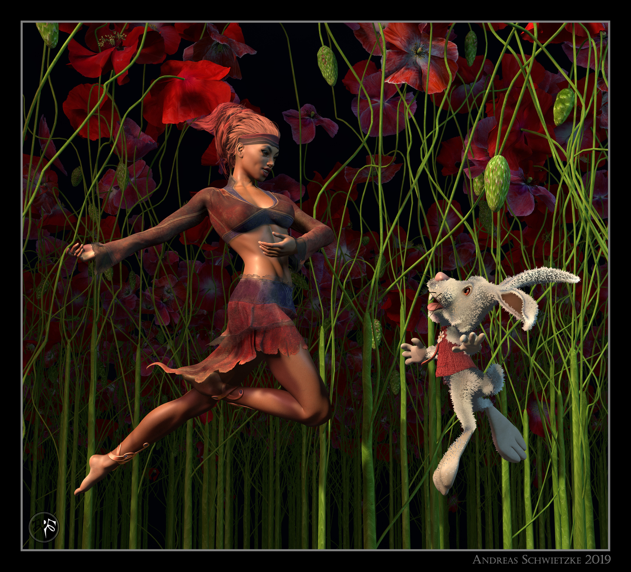 Dance with the white rabbit by arteandreas