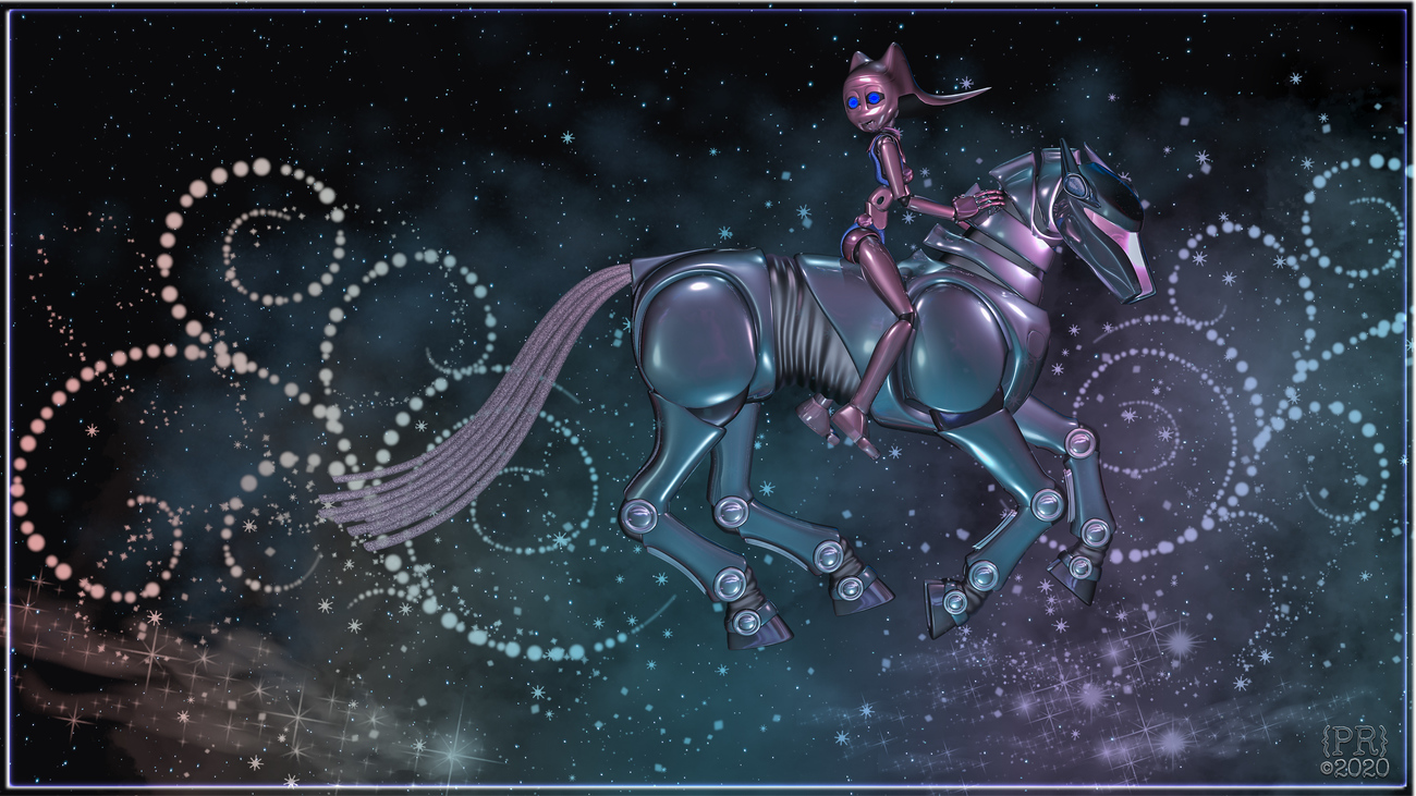 Galloping Through the Galaxy by perpetualrevision