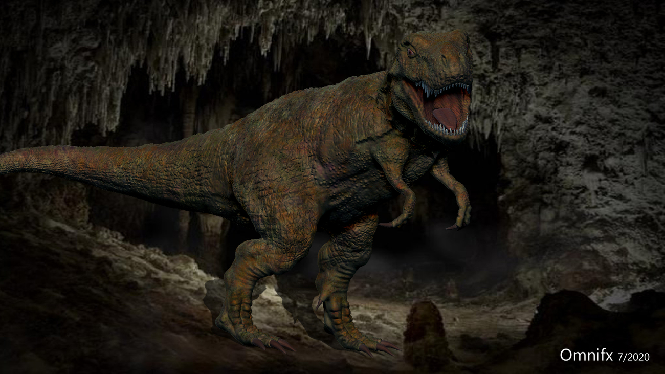 T-Rex in a cave by OmniFX