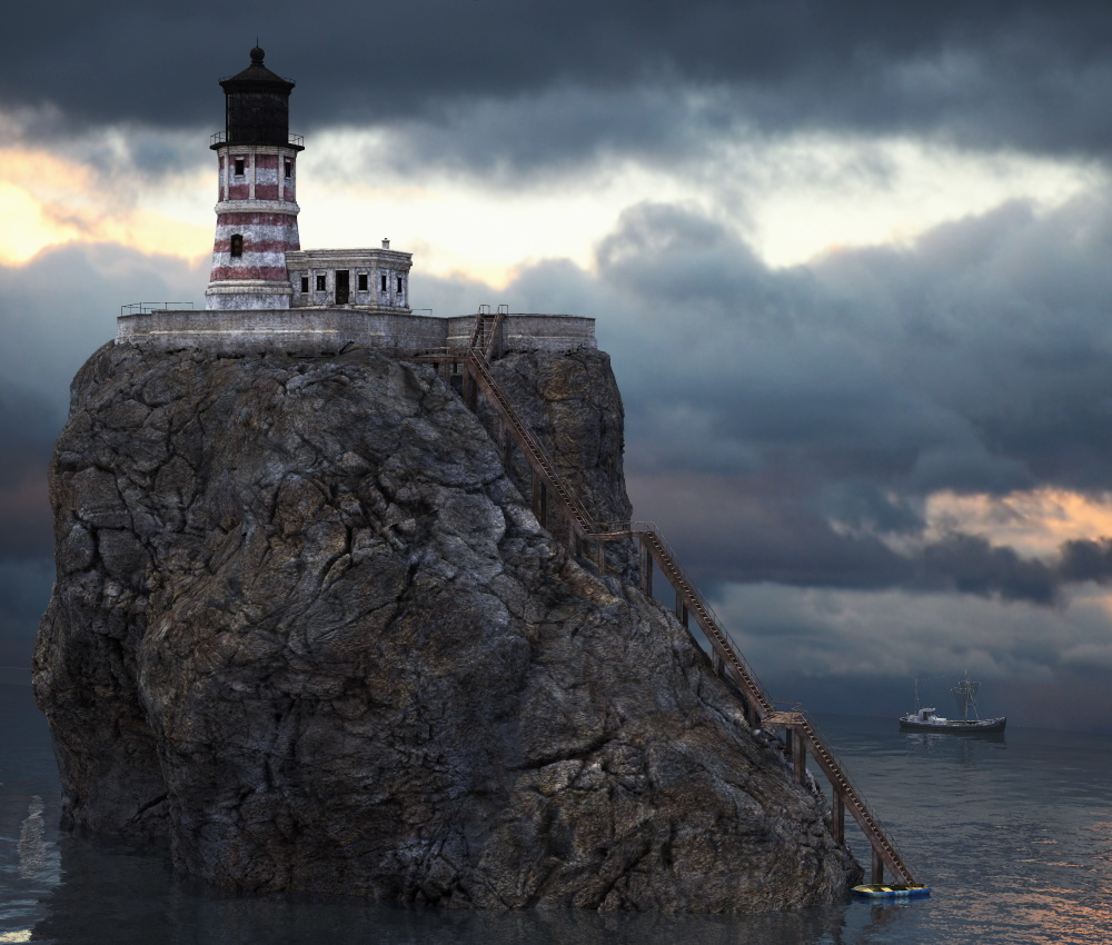 Lighthouse Vignette by Adompha
