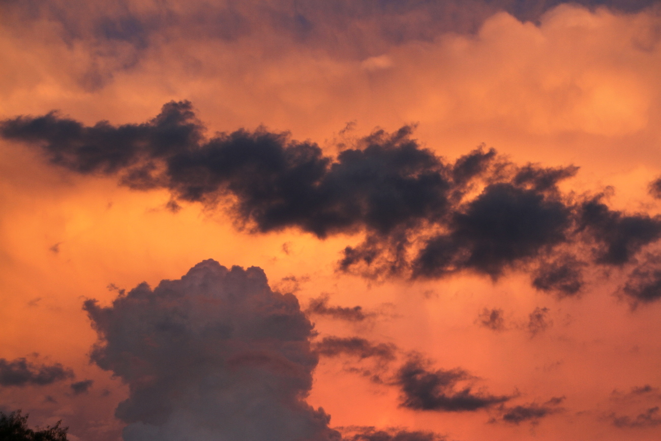 one of seldom moments of a sky blazing.