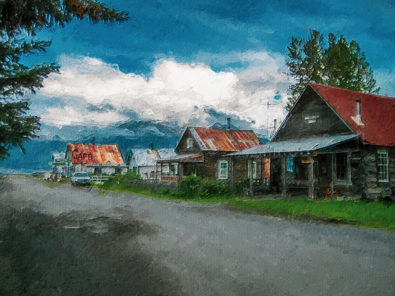 A Town Called Hope Painting by torgas