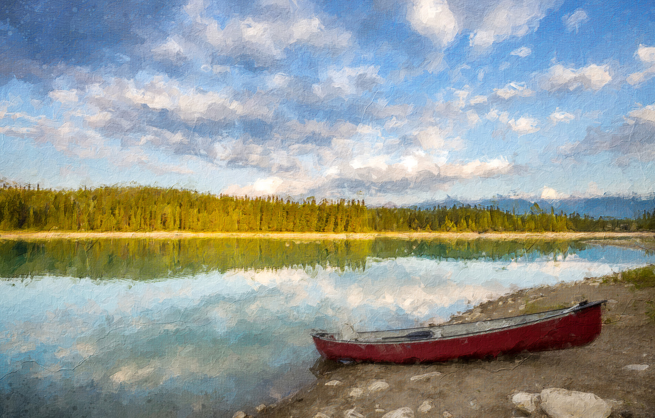 Canada Lake Painting by torgas