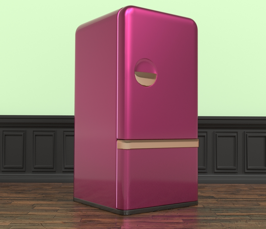 Elleque's Sexy Kitchen Cube Refrigerator by Belit