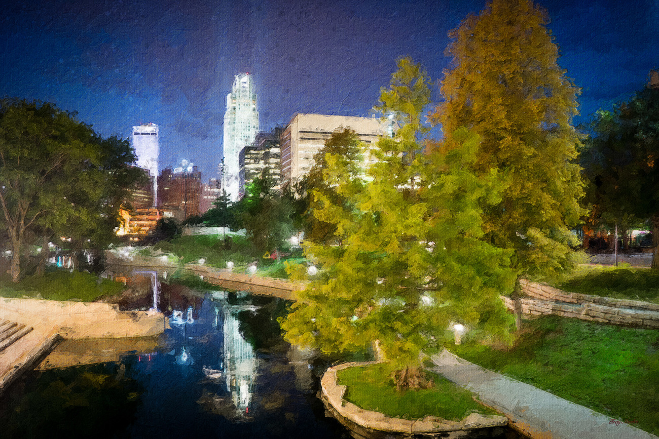 Omaha Skyline Photoshop Painting by torgas