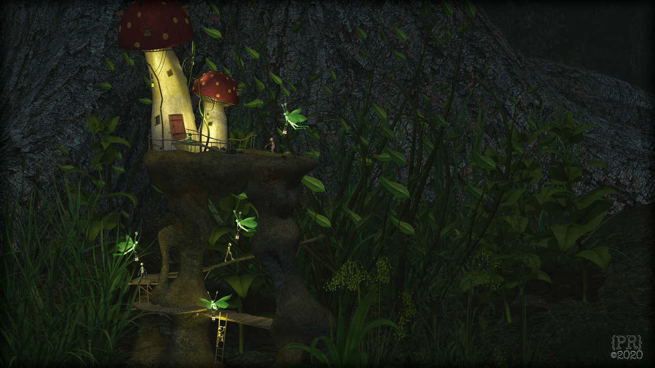 Spritely Guidance at the Fairy Fungi House by perpetualrevision