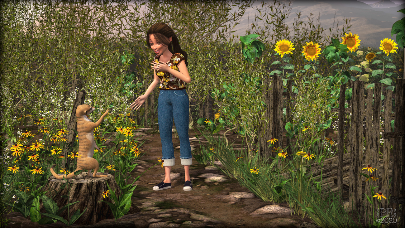 Maisie's Daisy Path Surprise by perpetualrevision