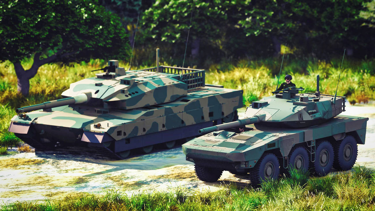 Tank Type10 and 16MCV (Modeling)