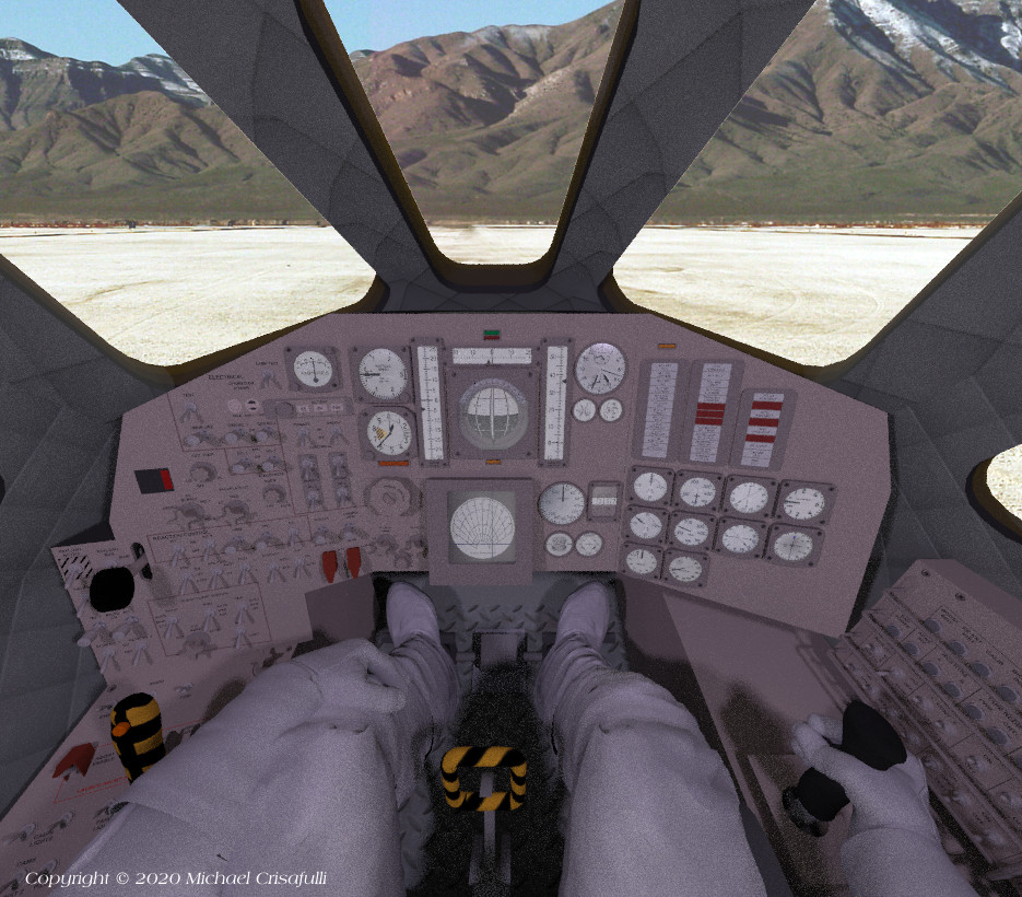 Dyna-Soar Cockpit View of White Sands by Michael_C