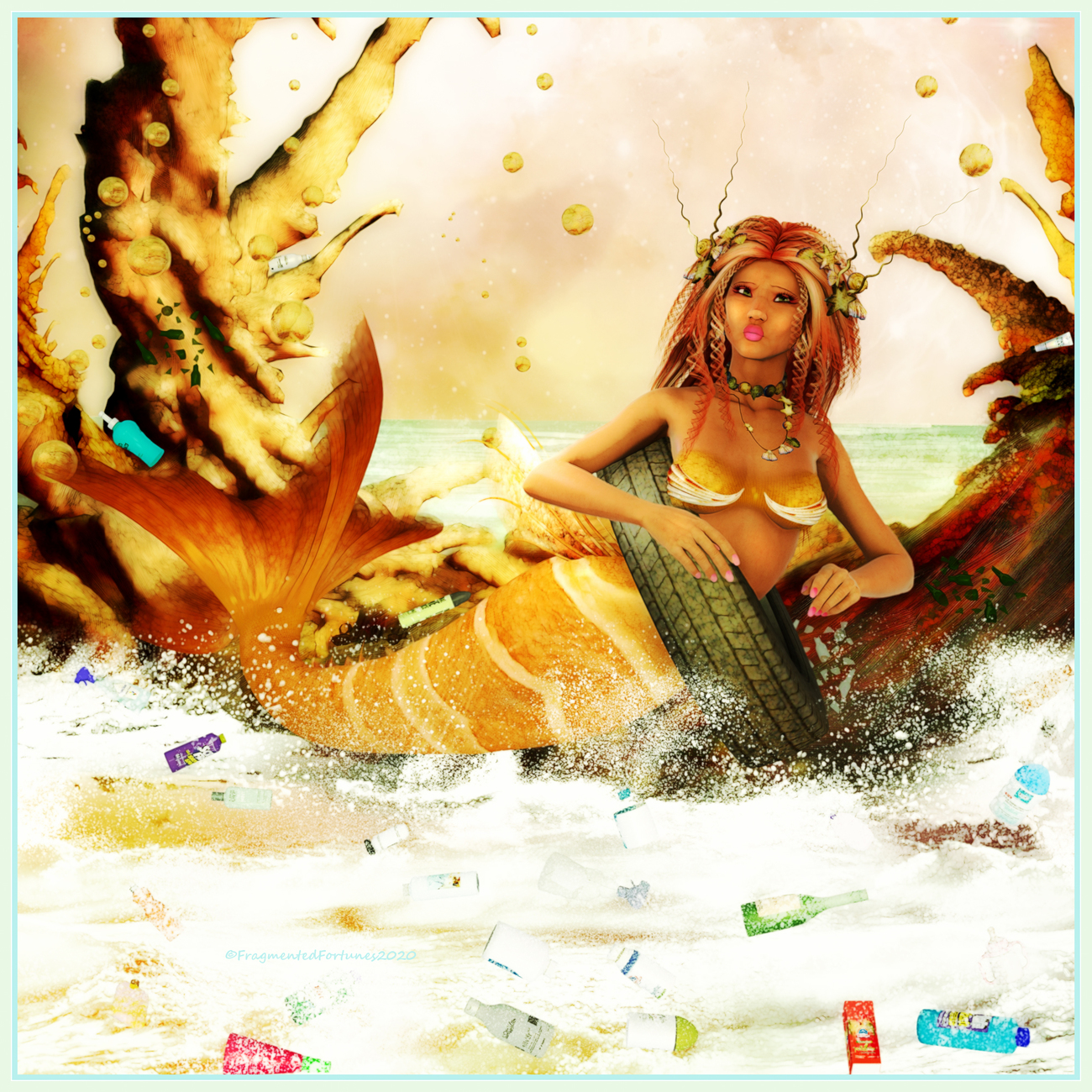 Ocean Pollution Mermaid by FragmentedFortunes